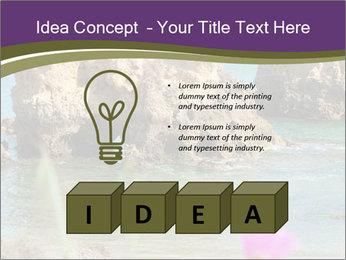 Sandstone cliffs PowerPoint Template - Slide 80