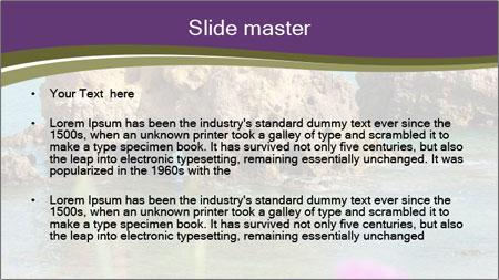 Sandstone cliffs PowerPoint Template - Slide 2