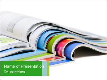 Color magazines PowerPoint Template - Slide 1