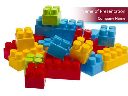 Lego plastic blocks PowerPoint Template