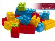 Lego plastic blocks PowerPoint Templates