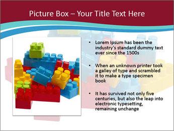 Lego plastic blocks PowerPoint Template - Slide 13