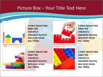 Lego plastic blocks PowerPoint Template - Slide 14