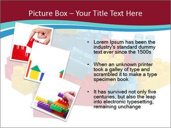 Lego plastic blocks PowerPoint Template - Slide 17