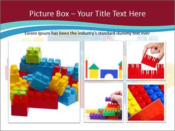 Lego plastic blocks PowerPoint Template - Slide 19