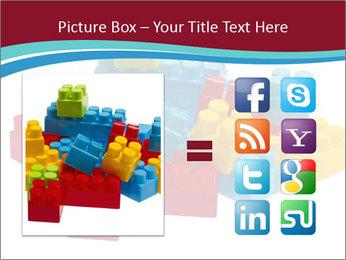 Lego plastic blocks PowerPoint Template - Slide 21