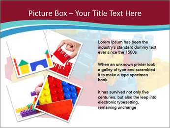 Lego plastic blocks PowerPoint Template - Slide 23