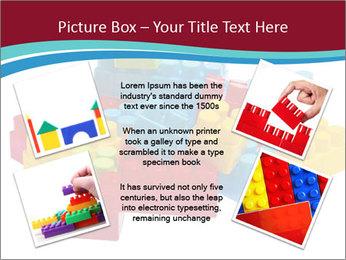 Lego plastic blocks PowerPoint Template - Slide 24