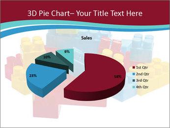 Lego plastic blocks PowerPoint Template - Slide 35