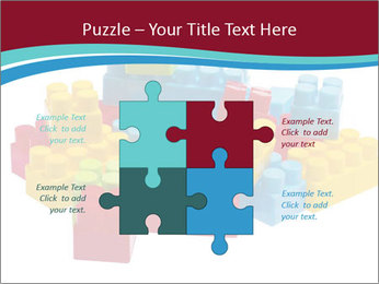 Lego plastic blocks PowerPoint Template - Slide 43