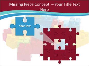 Lego plastic blocks PowerPoint Template - Slide 45