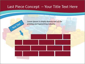 Lego plastic blocks PowerPoint Template - Slide 46