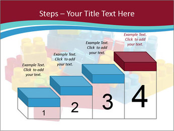 Lego plastic blocks PowerPoint Template - Slide 64