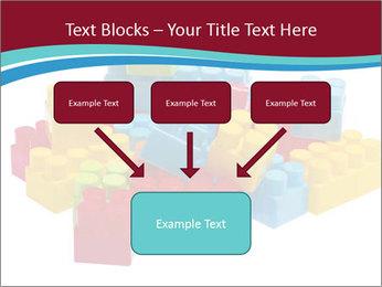 Lego plastic blocks PowerPoint Template - Slide 70