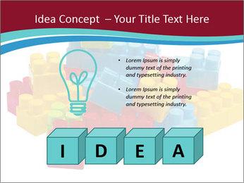 Lego plastic blocks PowerPoint Template - Slide 80