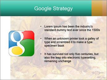 Woman on leafs PowerPoint Template - Slide 10