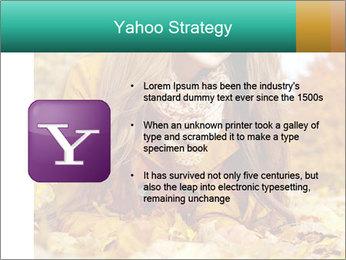Woman on leafs PowerPoint Template - Slide 11