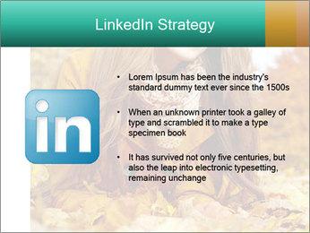 Woman on leafs PowerPoint Template - Slide 12