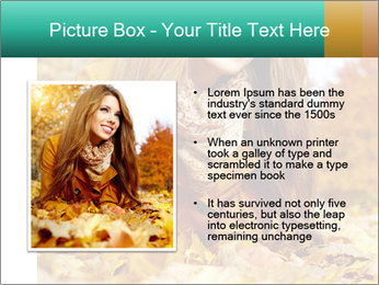 Woman on leafs PowerPoint Templates - Slide 13