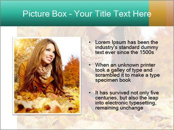 Woman on leafs PowerPoint Template - Slide 13
