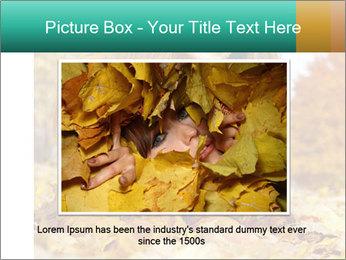 Woman on leafs PowerPoint Template - Slide 16