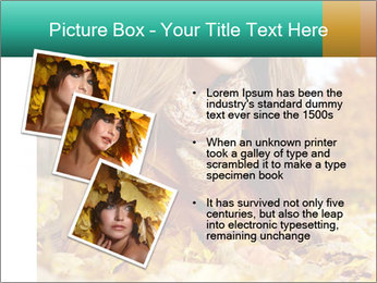 Woman on leafs PowerPoint Templates - Slide 17