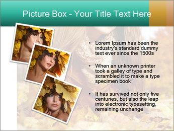 Woman on leafs PowerPoint Template - Slide 17