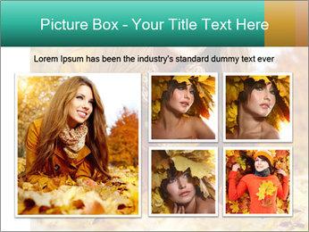 Woman on leafs PowerPoint Template - Slide 19