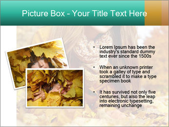 Woman on leafs PowerPoint Template - Slide 20