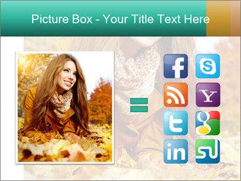 Woman on leafs PowerPoint Template - Slide 21