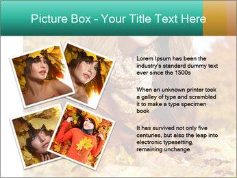 Woman on leafs PowerPoint Template - Slide 23