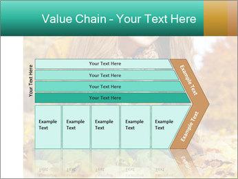 Woman on leafs PowerPoint Template - Slide 27
