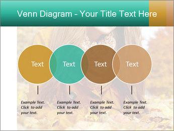 Woman on leafs PowerPoint Template - Slide 32