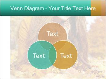 Woman on leafs PowerPoint Template - Slide 33