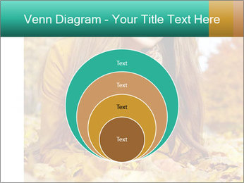 Woman on leafs PowerPoint Template - Slide 34