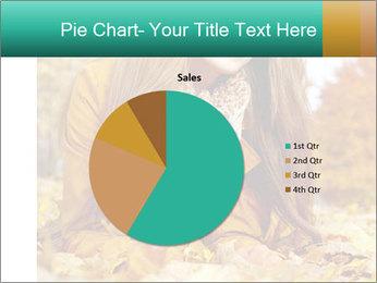 Woman on leafs PowerPoint Template - Slide 36