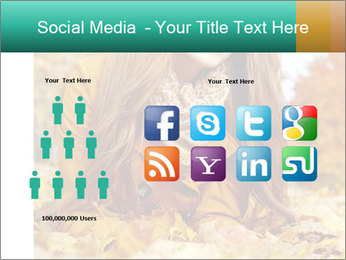 Woman on leafs PowerPoint Template - Slide 5