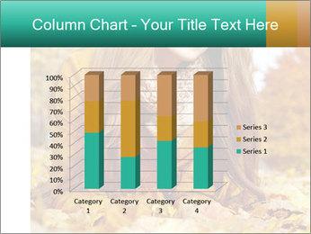 Woman on leafs PowerPoint Template - Slide 50