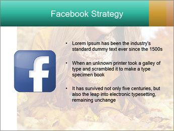 Woman on leafs PowerPoint Template - Slide 6