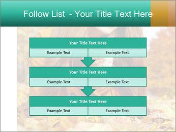 Woman on leafs PowerPoint Template - Slide 60