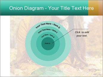 Woman on leafs PowerPoint Template - Slide 61