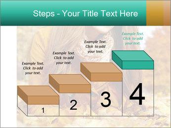Woman on leafs PowerPoint Template - Slide 64