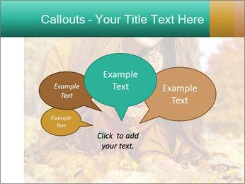 Woman on leafs PowerPoint Template - Slide 73