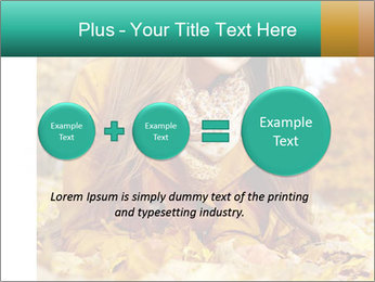 Woman on leafs PowerPoint Template - Slide 75