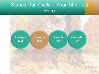 Woman on leafs PowerPoint Template - Slide 76