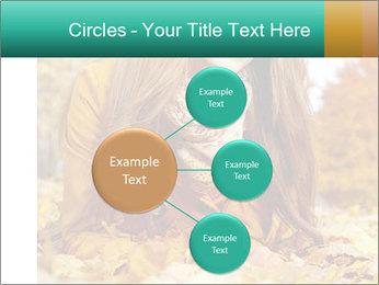 Woman on leafs PowerPoint Template - Slide 79