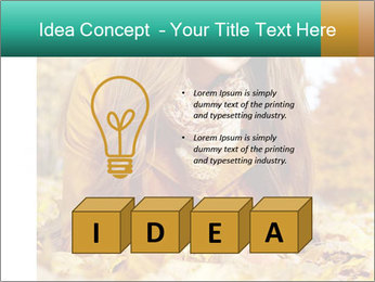 Woman on leafs PowerPoint Template - Slide 80