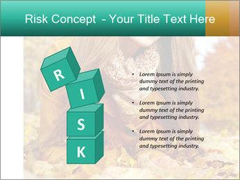 Woman on leafs PowerPoint Template - Slide 81