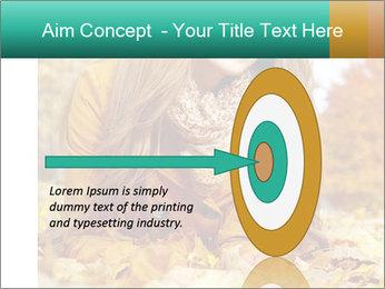 Woman on leafs PowerPoint Template - Slide 83