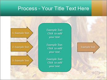 Woman on leafs PowerPoint Template - Slide 85
